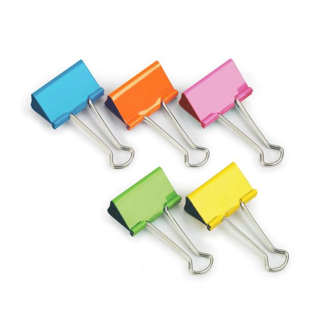 Coloured Foldback Clips