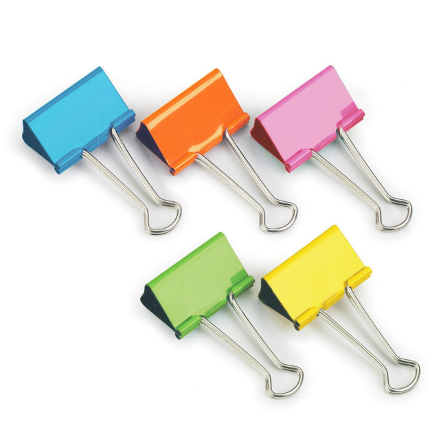 Coloured Foldback Clips