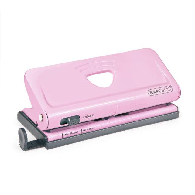 Adjustable 6-Hole Organiser/ Diary Punch (Candy Pink)